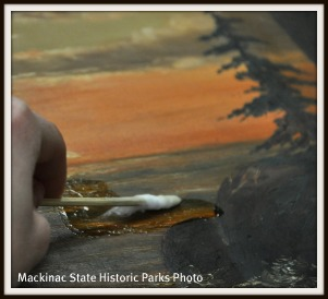Arch Rock painting cleaning technique