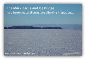 The Mackinac Island Ice Bridge Forms In Mid-January When The Temps Dip Below Zero.
