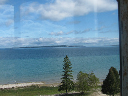 View from Old Mackinac Point Lighthouse tower.