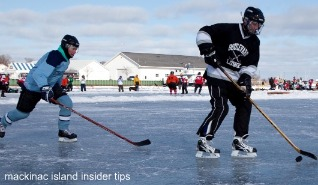 UP Pond Hockey is held in St. Ignace in mid-February.