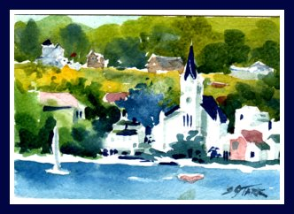 Mackinac Island Watercolor