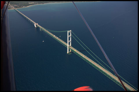 Mackinac Bridge Aerial View