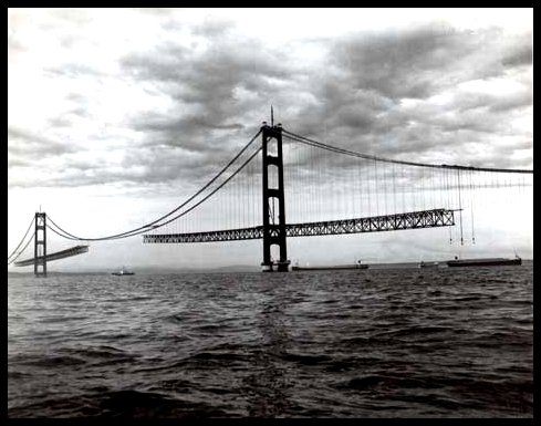 Mackinac Bridge Construction