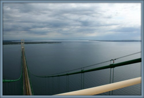 romantic proposals on Mackinac Bridge