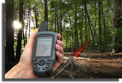 A high-tech treasure hunt is Geocaching!