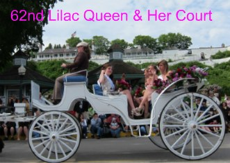 Lilac Festival Queen, Adrienne Rilenge, and her court in the 2011 Lilac Festival Parade.