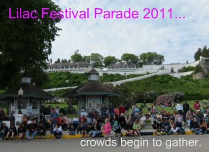Crowds gather early for the Lilac Festival Parade each year.
