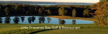 Beautiful views golfing or dining at the Little Traverse Bay Club.