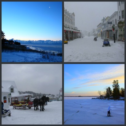 Mackinac Island Winter Vacation collage