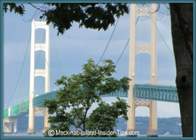 Straits State Park: fantastic Mackinac Bridge view, camping, picnic areas, and fishing too!