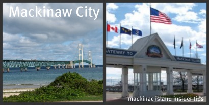 Mackinaw City Michigan is a popular family vacation spot in northern Michigan.