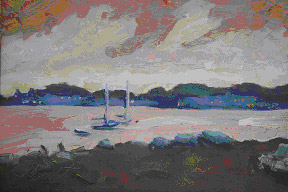 Michigan artists are varied...see Pat Pulte on Mackinac Island.