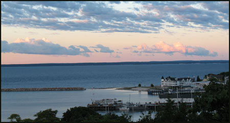 Mackinac Island sunset