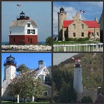 4 Straits of Mackinac Lighthouses