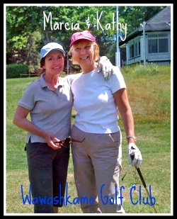 Marcia and Kathy on Mackinac Island