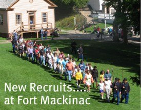 People love joining in at Fort Mackinac.