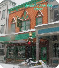 Mackinac Island Irish Pub in the winter.