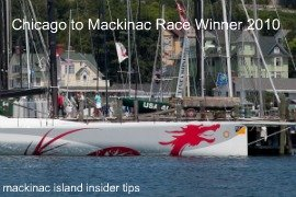 Chicago to Mackinac Race Is A Prestigious Sailing Event each year drawing thousands of people to Mackinac Island.