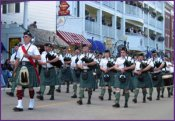bagpipes on Mackinac Island