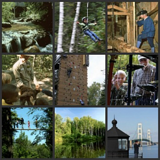 Mackinaw Mill Creek Discovery Park is just outside of Mackinaw City Michigan