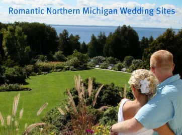 Romantic Northern Michigan wedding sites are truly special on Mackinac Island Michigan.